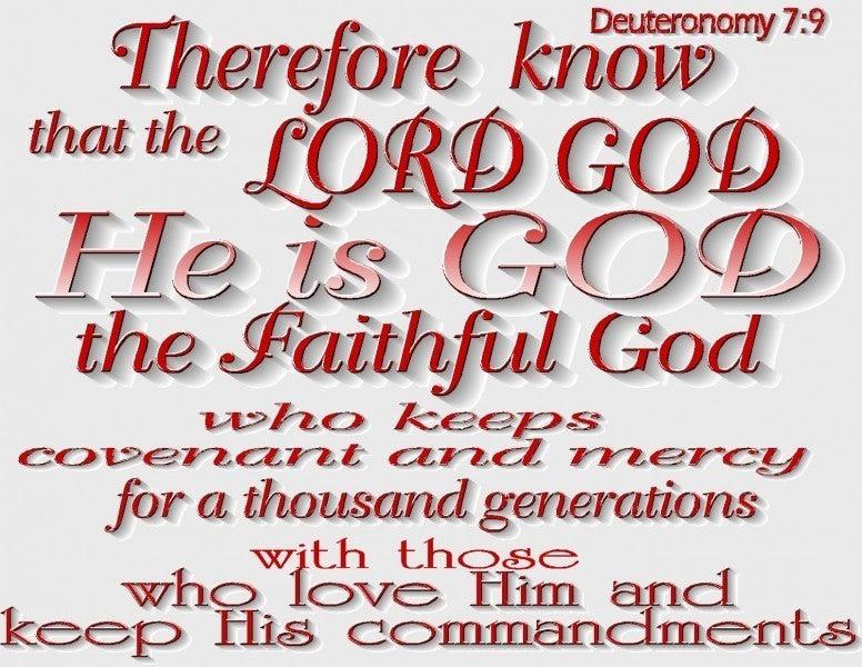 Deuteronomy 7 9 Verse Of The Day