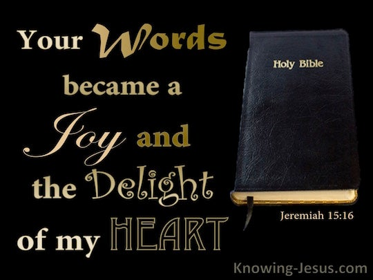 Jeremiah 15:16 - Verse of the Day