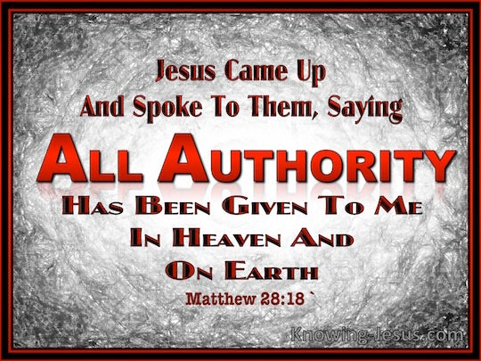 matthew 28 18 verse of the day
