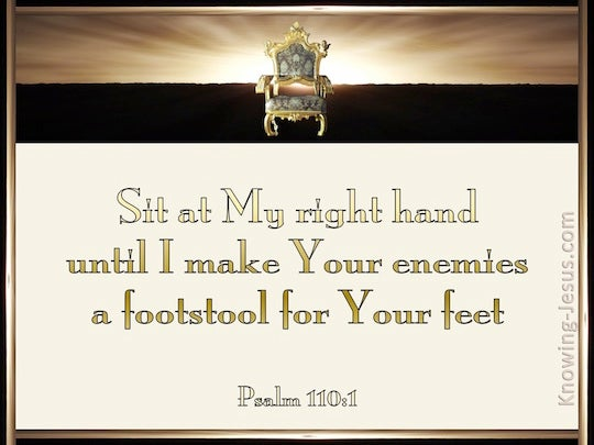 Psalm 110 1 Verse Of The Day