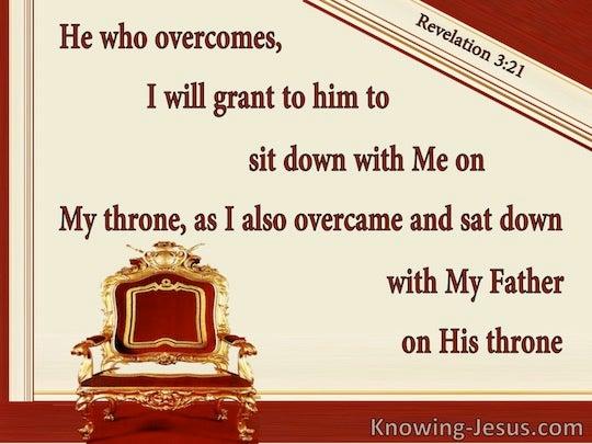 Revelation 3 21 Verse Of The Da