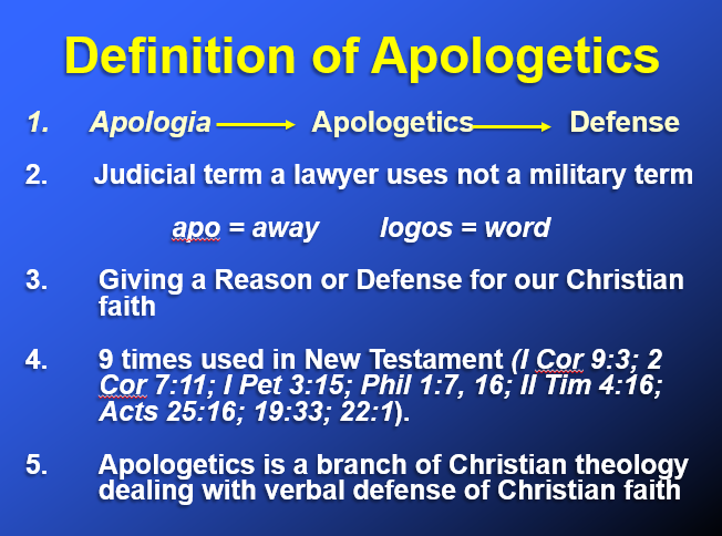 definition of apologetics